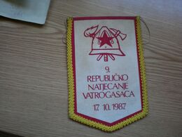 Flag Of The Republic Firefighters Competition Rep Natjecanje Vatrogasaca 1987 Bjelovar - Advertising