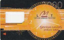 Latvia, V-LMT-GSM-0004, GSM Frame Without Chip, Watch, 2  Scans. - Lettland