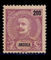 ! ! Angola - 1898 D. Carlos 200 R - Af. 49 - No Gum - Angola