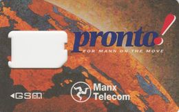 Isle Of Man, IM-PRO-GSM-0002B,  GSM Frame Without Chip, Manx Telecom Pronto! 2  Scans. - Lettland