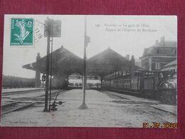 CPA - Nantes - La Gare De L'Etat - Départ De L'Express De Bordeaux - Nantes