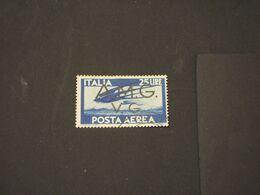 TRIESTE - VENEZIA GIULIA A.M.G.-V.G -  P.A. 1946 UCCELLO L. 25 - TIMBRATO/USED - 7. Triest