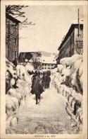 Cp Asiago Veneto, Straßenpartie Im Ort, Winter, Hochschnee - Italie