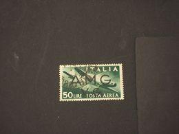 TRIESTE - VENEZIA GIULIA A.M.G.-V.G -  P.A. 1946 AEREO L. 50 - TIMBRATO/USED - 7. Triest