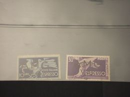 TRIESTE - VENEZIA GIULIA A.M.G.-V.G -  ESPRESSI 1946 PIEDE E CAVALLO 2 VALORI - TIMBRATO/USED - 7. Triest