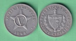 1968-MN-10 CUBA 1968 5c ESTRELLA STAR ALUMINIUM - Cuba