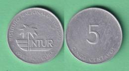 1988-MN-116 CUBA EXCHANGE INTUR COIN 1988 5c. KM 413. ALUMINUM. - Cuba