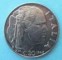 1943 R - Regno ITALIA - Magnetica  20 Centesimi  - Circolata - 1861-1946 : Kingdom