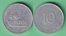 1988-MN-121 CUBA EXCHANGE INTUR COIN. 1988. 10c. KM 414. ALUMINUM. - Cuba