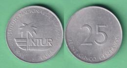 1988-MN-122 CUBA EXCHANGE INTUR COIN. 1988. 25c. KM 415. ALUMINUM. - Cuba