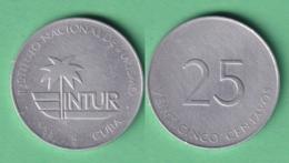 1988-MN-123 CUBA EXCHANGE INTUR COIN. 1988. 25c. KM 415. ALUMINUM. - Cuba