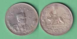 M300 IRAN PERSIA 1927 1306-07 5000 DINAR (5 KRAN) KM.1106 23gr 900 FINE SILVER LION. - Irán