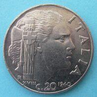 1940 R - Regno ITALIA - Magnetica  20 Centesimi  - Circolata - 1861-1946 : Kingdom