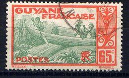 GUYANE - N° 121° -  PIROGUE SUR LE MARONI - Guyane Française (1886-1949)