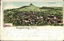 Lithographie Dabo Moselle, Gesamtansicht - France