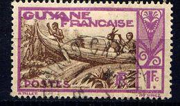 GUYANE - N° 124° -  PIROGUE SUR LE MARONI - Guyane Française (1886-1949)