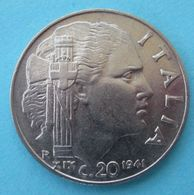 1941 R - Regno ITALIA - Magnetica  20 Centesimi  - Circolata - 1861-1946 : Kingdom