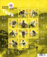 Blok 252** De 10 Belgische Toerwinnaars -  Les Dix Vainqueurs Belges Du Tour De France**  Sheet / Bloc - Bélgica