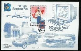 Blok 91** 500 Jaar Europese Post Met Zegel 3001** Bloc 91 XX 500 Ans De Poste Européenne - Bloques 1962-....