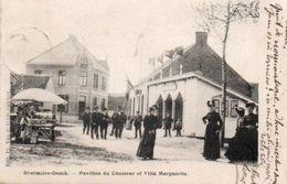Overmeire-Donck Pavillon Du Chasseur Et Villa Marguerite Bien Animée Circulé En 1904 - Laarne