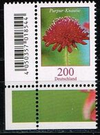 Bund 2020,Michel# 3556 ** Blumen: Purpur-Knautie - [7] Repubblica Federale