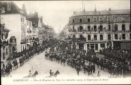 Cp Compiègne Oise, Fêtes De Réception Du Tzar, 11 Septembre 1901, Départ Pour La Revue - France
