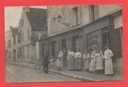 78 - Andresy - Carte Photo Restaurant Dans La Grande Rue - Andresy