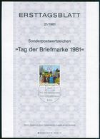 BRD - 1981 ETB 21/1981 - Mi 1112 - 60Pf                           Tag Der Briefmarke 1981 - [7] República Federal