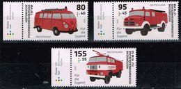 Bund 2020,Michel# 3557 - 3559 ** Für Die Jugend: Historische Feuerwehrfahrzeuge - [7] Repubblica Federale