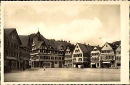 Cp Bad Urach In Der Schwäbischen Alb, Blick Auf Marktplatz Mit Rathaus - Sonstige