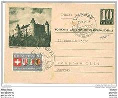 36-44 - Entier Postal Avec Illustration Grandson - Affranchissement Complémentaire-cachet Illustré De Vitznau 1965 - Interi Postali