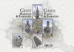 Blok 234** Gent, Markten En Floraliën / Gand Places Et Floralies 4581/85** - Belgien