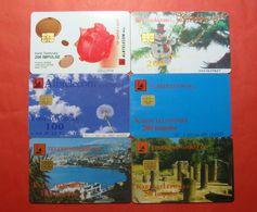 Albania Lot Of 6 CHIP Cards, Operator ALBTELEKOM - Albania
