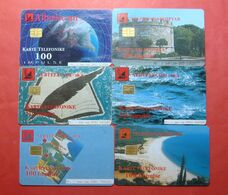Albania Lot Of 6 CHIP Cards, Operator ALBTELEKOM (2) - Albania
