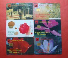 Albania Lot Of 6 CHIP Cards, Operator ALBTELEKOM (3) - Albania