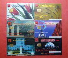 Albania Lot Of 6 CHIP Cards, Operator ALBTELEKOM (4) - Albania