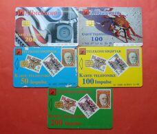 Albania Lot Of 5 CHIP Cards, Operator ALBTELEKOM - Albania