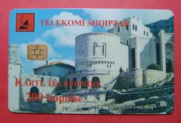Albania Prepaid Card, Operator Albtelecom (200 Units) City Of Kruja - Albania