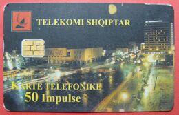 Albania Prepaid Card, Operator Albtelecom (50 Units) City Of Tirana - Albania