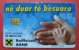 Albania Prepaid Card, Operator Albtelecom (50 Units) Raiffeisen Bank - Albania