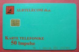 Albania Prepaid Card, Operator Albtelecom (50 Units) Green - Albania