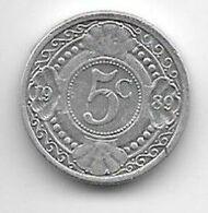 *netherlands Antilles 5 Cent  1989  Km 33  Xf+/ms60 - Antillen (Niederländische)
