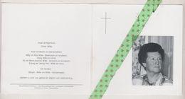 Maria Bovyn-Wille, Sint-Baafs-Vijve 1922, Roeselare 1999 - Décès