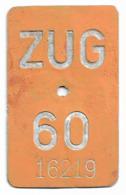 Velonummer Zug ZG 60 - Placas De Matriculación