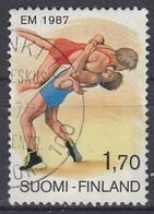 FINLAND 1013,used,falc Hinged - Wrestling