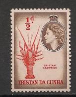 Tristan Da Cunha - 1953 - N°Yv. 14 - Crawfish - Neuf Luxe ** / MNH / Postfrisch - Schalentiere