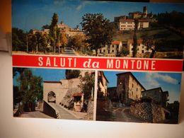 Cartolina Saluti Da Montone Prov Perugia Vedutine - Perugia