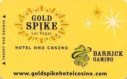 Gold Spike Casino - Las Vegas, NV - Hotel Room Key Card - Hotel Keycards