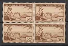 Fezzan - 1951 - N°Yv. 56 - Elevage 30c Brun - Bloc De 4 - Neuf Luxe ** / MNH / Postfrisch - Fezzan (1943-1951)