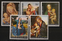 Haute Volta - 1973 - Poste Aérienne PA N°Yv. 125 à 129 - Noel / Paintings - Neuf Luxe ** / MNH / Postfrisch - Alto Volta (1958-1984)